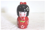 Kokeshi Doll Money Box, Red, 17cm